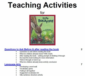 Sylvan Dell's Teaching Activities Section