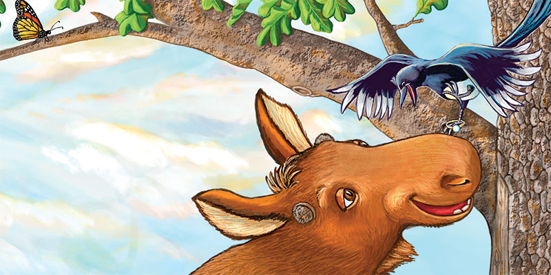 Artwork from Moose and Magpie by Sherry Rogers